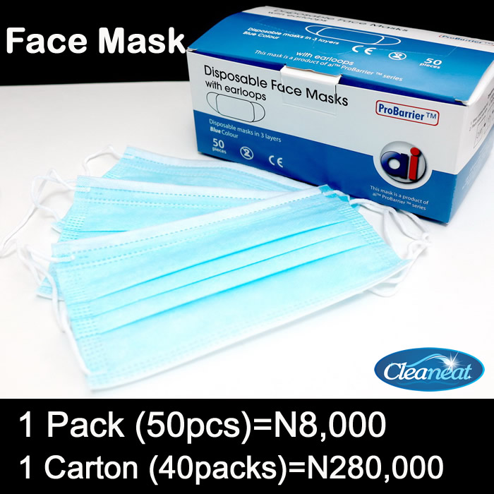 3 Ply Nose mask price in Nigeria