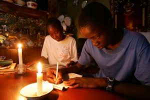 darkness power failure in Africa